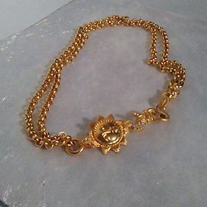 Jewelry - Moon and sun decorative gold necklace 18 in